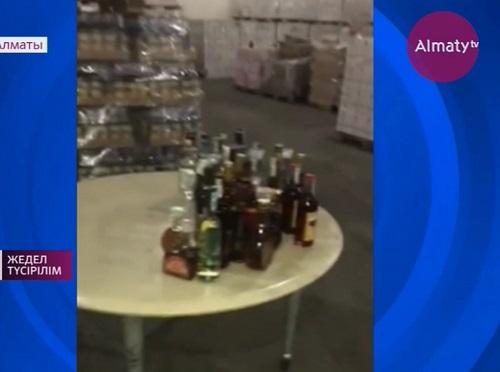 Крупную партию нелегального алкоголя изъяли в Жетысуском районе Алматы