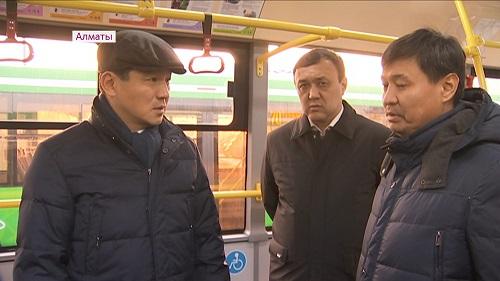 Алматы продолжает пополняться новыми автобусами
