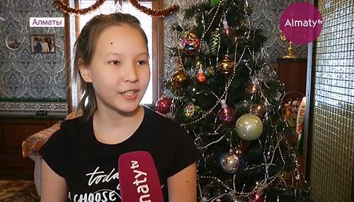Новогодний подарок от имени президента Казахстана получила юная алматинка