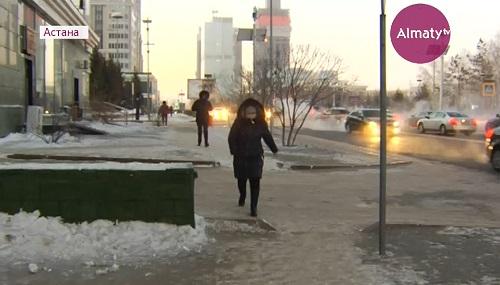 На улицах Астаны из-за морозов появились бесплатные такси