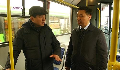 В Алматы микрорайоны Казахфильм и Алгабас связал новый автобусный маршрут №19