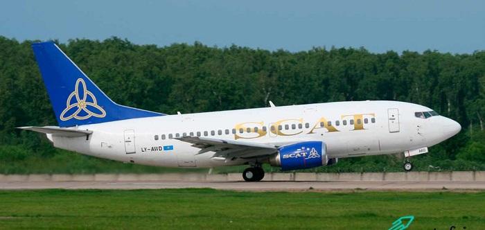 В аэропорту Алматы при посадке хвост самолета задел взлетную полосу