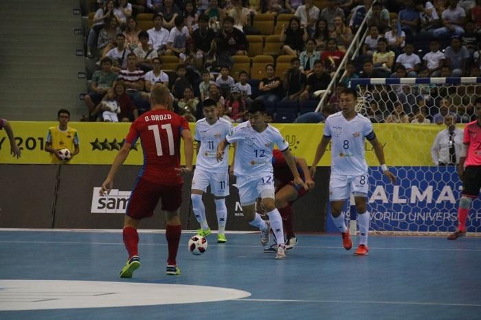 Студенческий ЧМ по футзалу в Алматы: первая победа казахстанцев