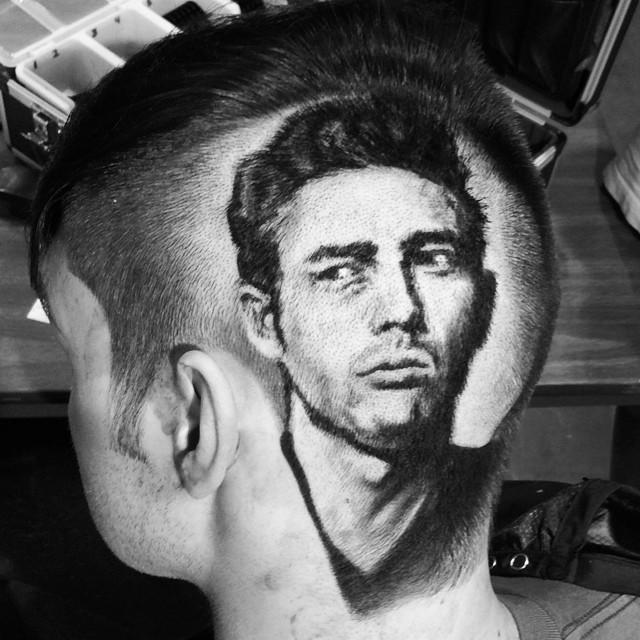 Портрет Головкина на голове выстриг художник из Уральска
