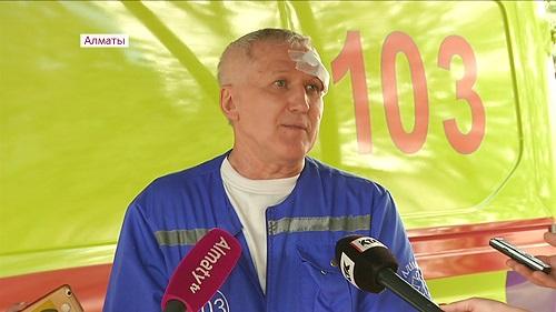 Гражданин Турции избил водителя скорой помощи в Алматы