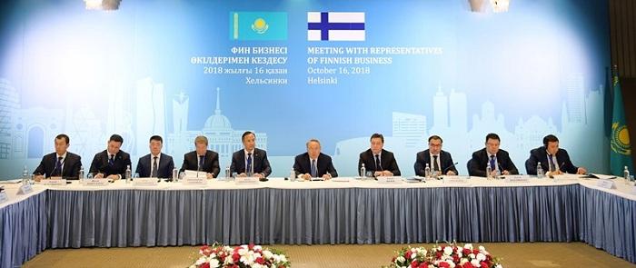 Нурсултан Назарбаев пригласил финские компании развивать бизнес в Казахстане