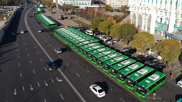 200 новых автобусов прибыли в Алматы