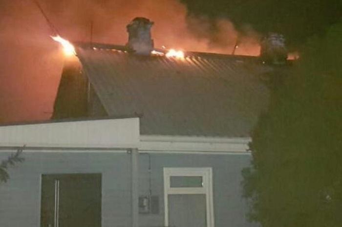 Крупный пожар в частном секторе произошел в Алматы