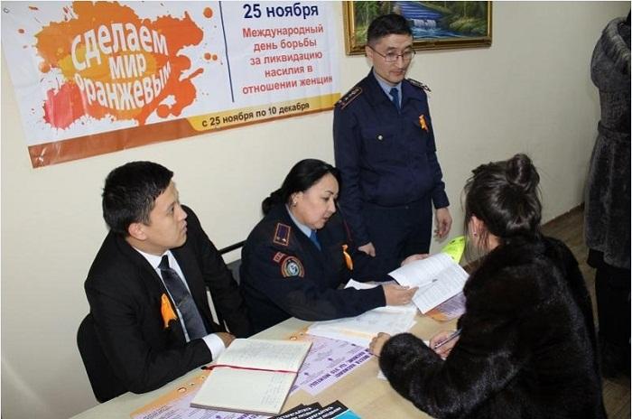 Для жертв бытового насилия полицейские создали фронт-офисы в Алматы