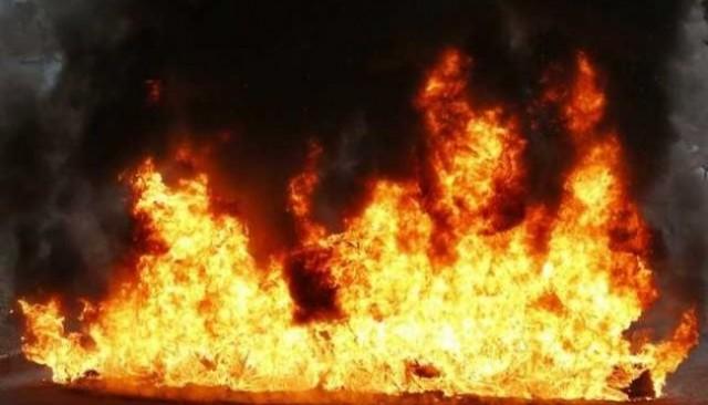 Новый двухэтажный магазин сгорел в Талгарском районе
