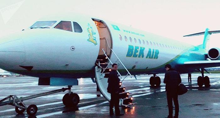 Самолет Bek Air вернулся в аэропорт Астаны из-за технической неисправности