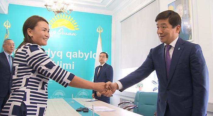 Бауыржан Байбек провел прием граждан в офисе партии «Нур Отан»