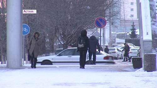 Мороз в Астане: первые пациенты поступили в больницы