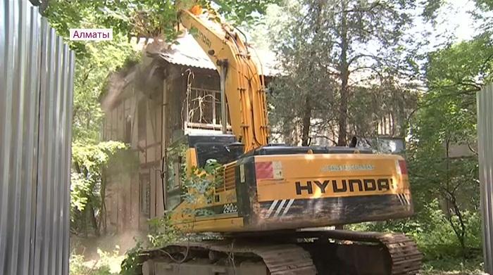 277 ветхих домов снесут в Бостандыкском районе Алматы