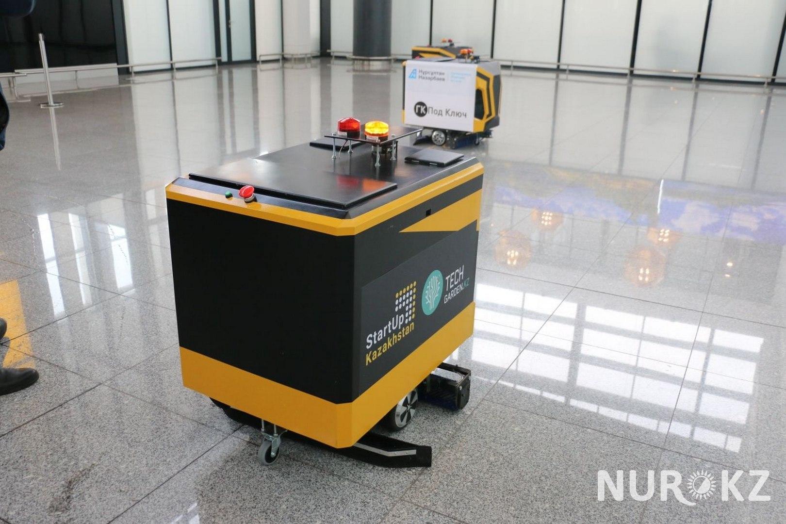 Робота-уборщика за 2,5 млн тенге наняли в аэропорт Нурсултан Назарбаев