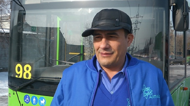 Самый добрый водитель появился в автопарке Алматы