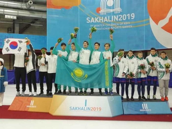 Казахстанские шорт-трекисты выиграли «золото» и «серебро» на играх «Дети Азии»
