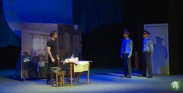 О полицейских-героях поставил спектакль костанайский драмтеатр