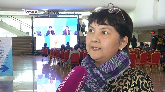 Отчетная встреча акима Алматы: опоздавшие смогли наблюдать выступление на мониторах в фойе