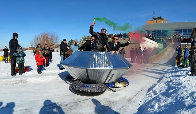 В Павлодаре прошел фестиваль необычных саней (фото)