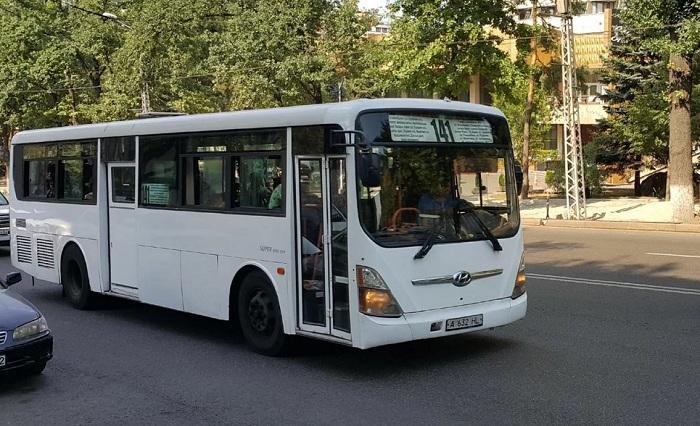 В Алматы изменили схему движения автобусного маршрута № 141