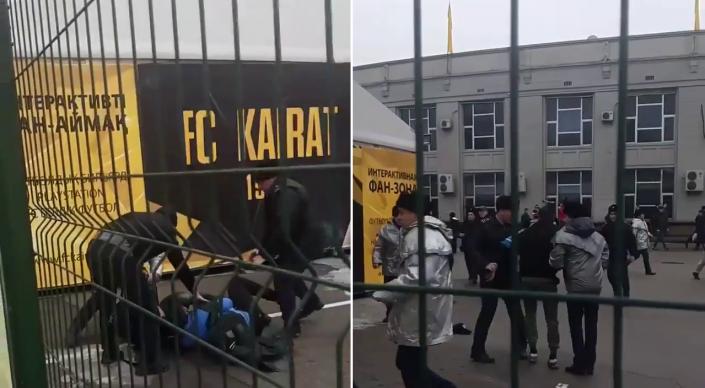Футбольные фанаты устроили драку в Алматы