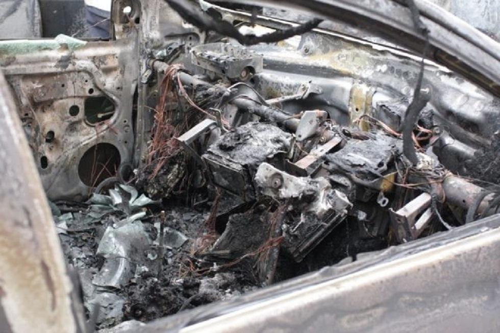 Водитель сгорел в автомобиле в Костанайской области