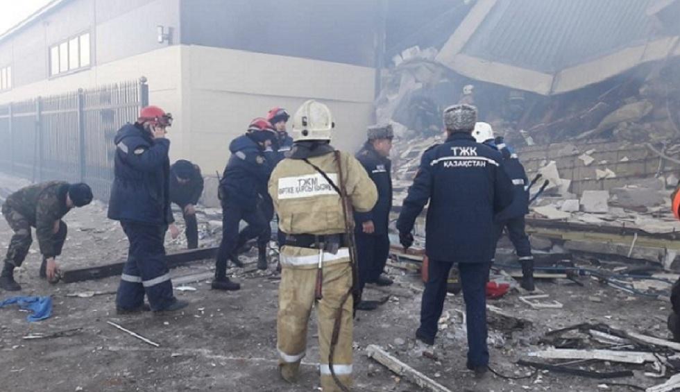 В Астане назвали основную причину взрыва в административном здании