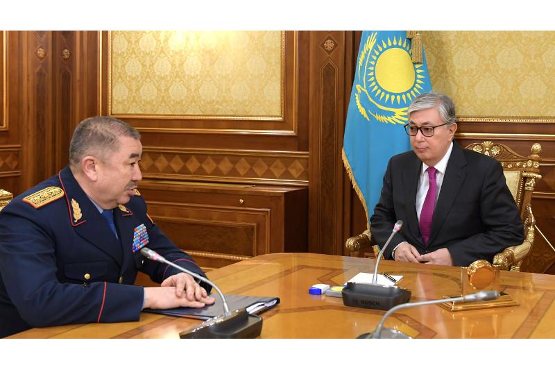 Президент Токаев принял главу МВД