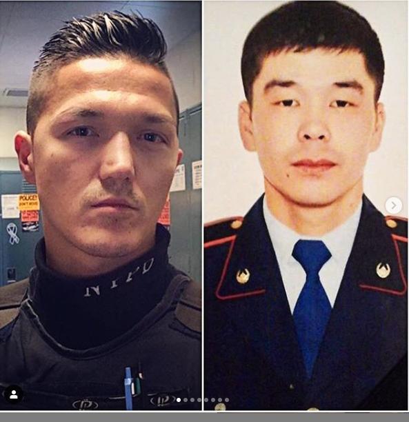 Нью-йоркский полицейский родом из Казахстана собирает на мемориал погибшему коллеге из Атырау
