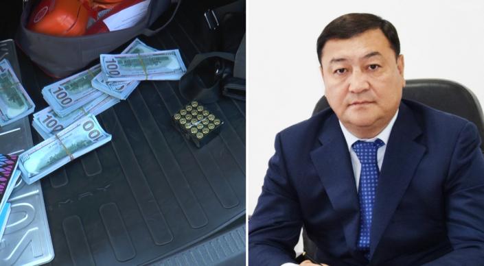 Акима Талдыкоргана проверяют после задержания водителя авто с оружием и долларами в Алматы