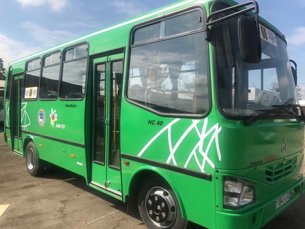 Автобусы на маршруте №60 обновили в Алматы