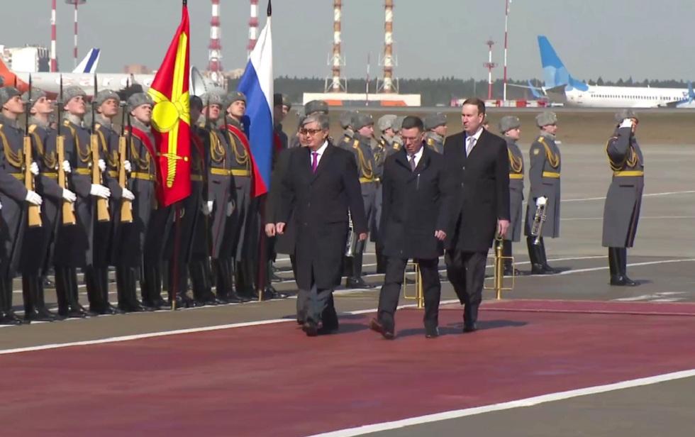 Президент Казахстана Касым-Жомарт Токаев прибыл в Москву