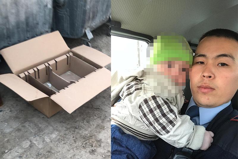 Младенца нашли в коробке возле мусора в Атырау