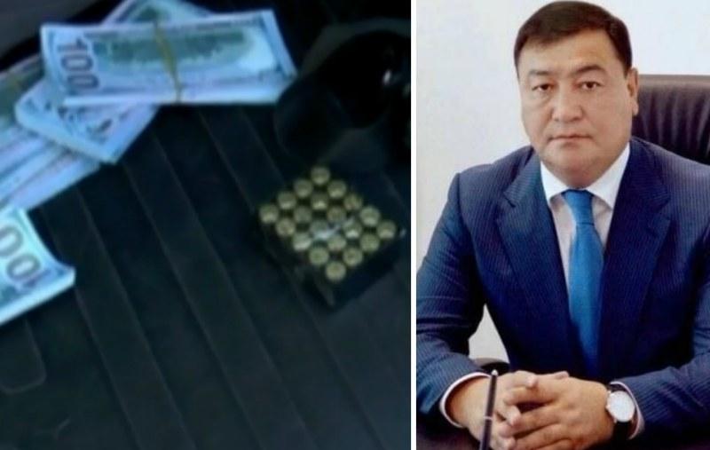 Доллары, оружие и госномера в багажнике - владельцем авто оказался сын экс-акима Талдыкоргана