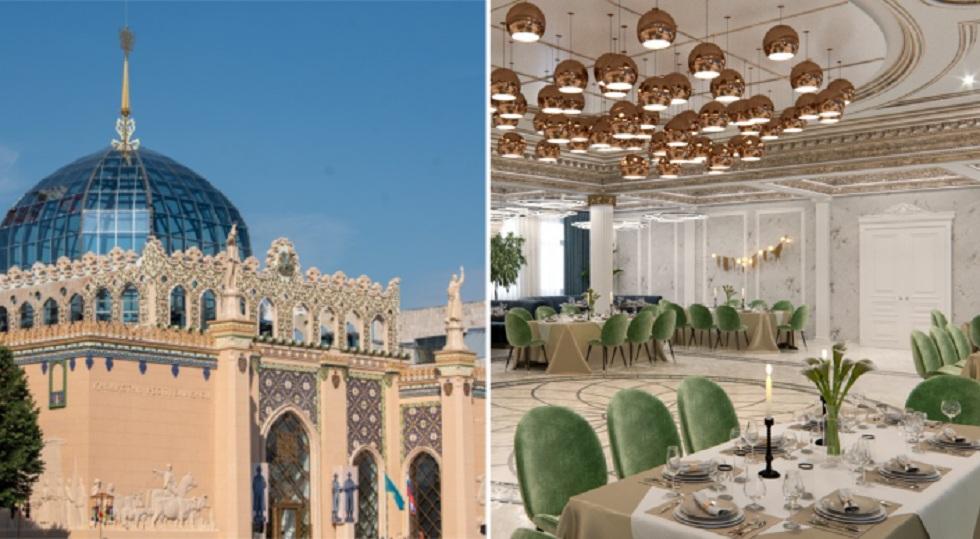 Как будет выглядеть роскошный казахский ресторан на ВДНХ в Москве (эскизы)