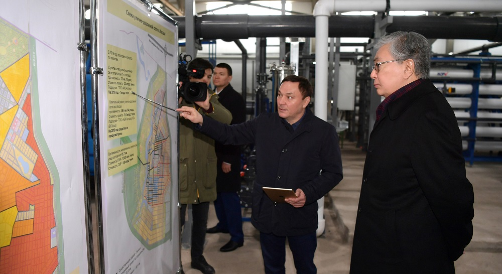 Президент Казахстана Касым-Жомарт Токаев посетил село Косшы в Акмолинской области