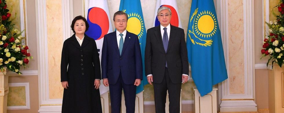Президенты Казахстана и Южной Кореи приняли совместное заявление