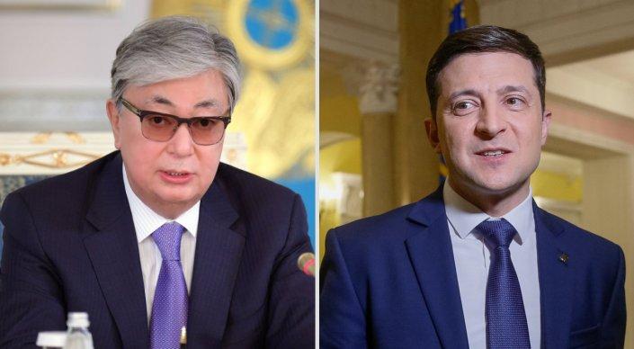 Токаев поздравил Зеленского с победой на выборах
