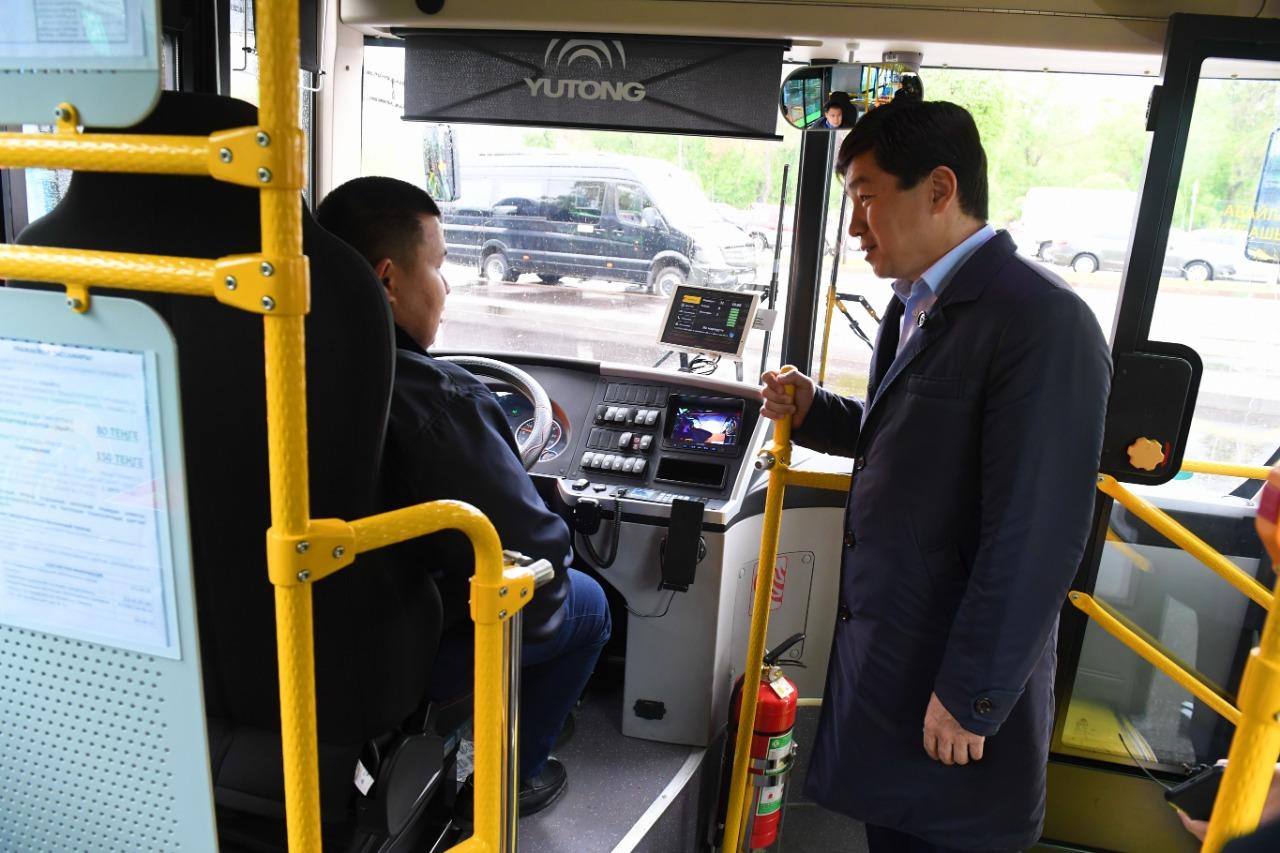 Новые автобусы начинают обслуживать маршруты №31 и №81 в Алматы