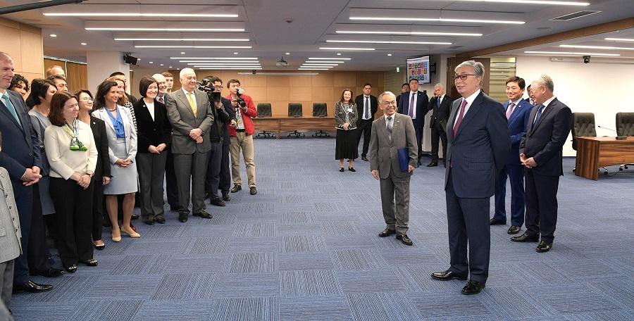Касым-Жомарт Токаев посетил новый офис ООН в Алматы
