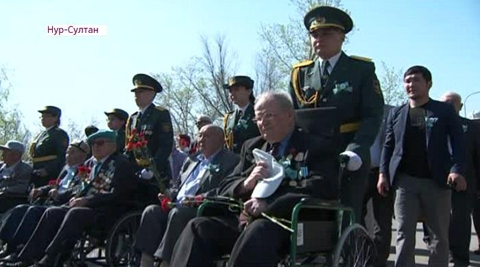 Память павших в бою сослуживцев почтили ветераны ВОВ в Нур-Султане