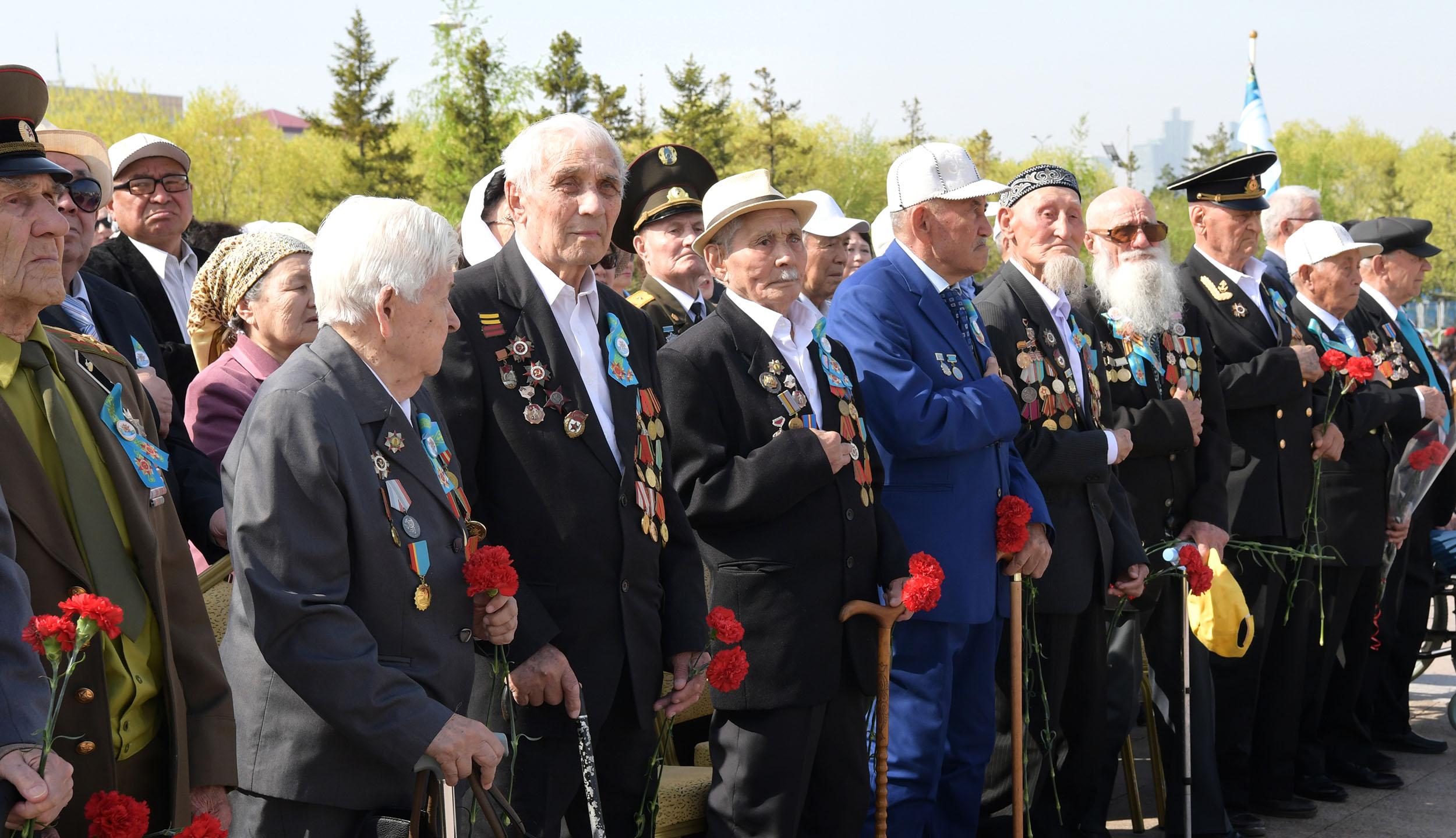 Празднование Дня Победы в Нур-Султане