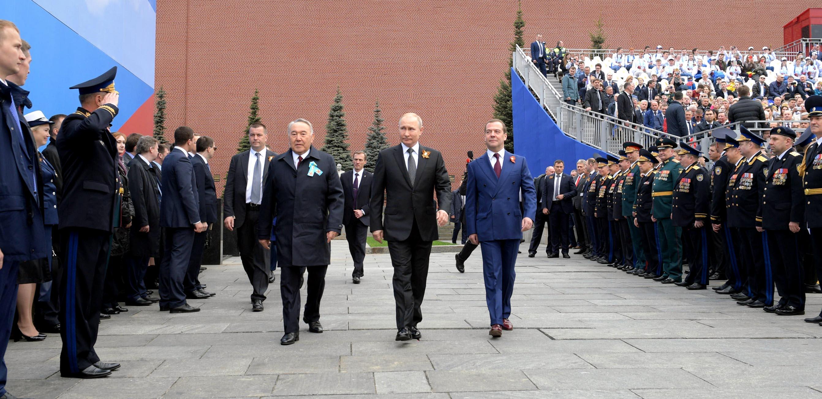 Нурсултан Назарбаев прибыл в Москву на парад Победы