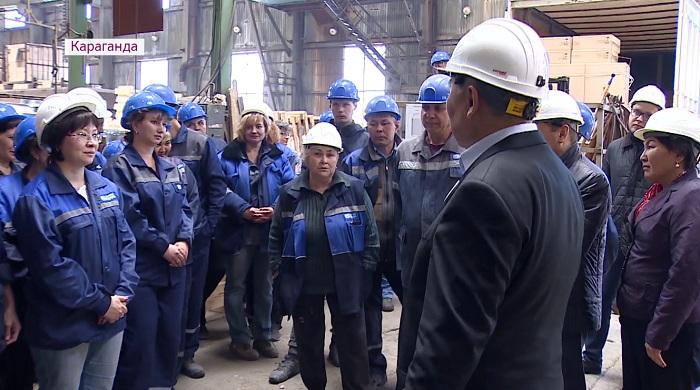 Соблюдать технику безопасности на заводе призвал Амангельды Таспихов