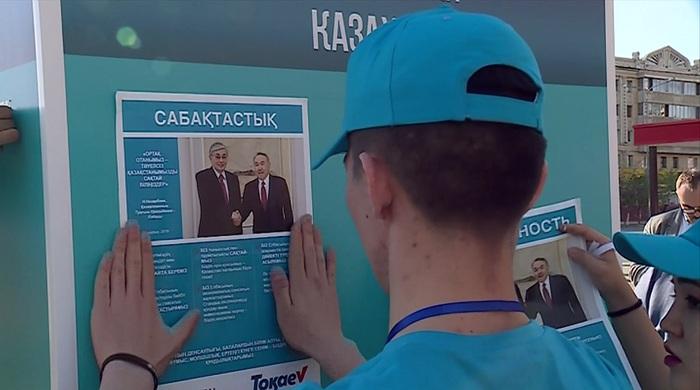 Члены штаба кандидата Токаева в Алматы встречаются с многодетными семьями