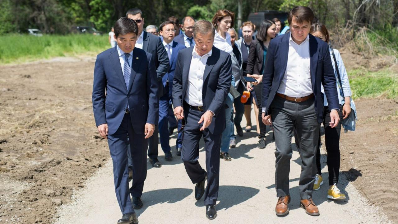 Реконструкция Ботанического сада Алматы: Байбек ознакомился с планом