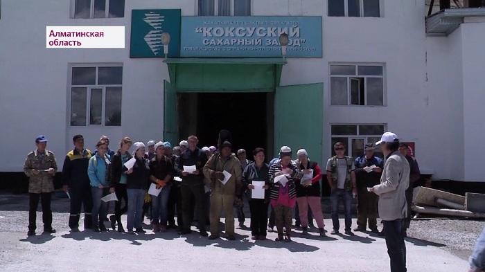 Избирательный штаб Амиржана Косанова посетил сахарный завод близ Талдыкоргана