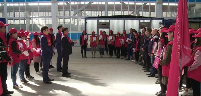 Программу кандидата Ахметбекова представил его штаб в Каратау