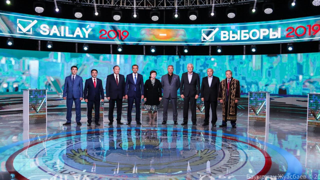 Теледебаты кандидатов в президенты состоялись в Казахстане